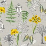 Fern Garden by Makower UK - 6282 - Montage on Grey - 2072_S - Cotton Fabric